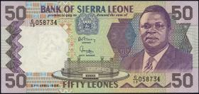 Sierra Leone P.17a 50 Leones 1988 (1)