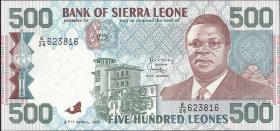 Sierra Leone P.19 500 Leones 1991 (1)