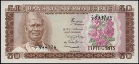 Sierra Leone P.04b 50 Cents o.J. (1)