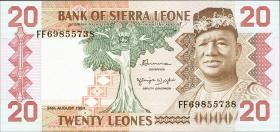 Sierra Leone P.14b 20 Leones 1984 (1)
