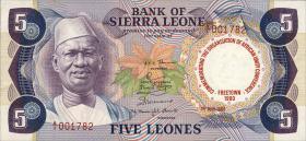 Sierra Leone P.12 5 Leones 1980 Gedenkausgabe (1)