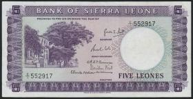 Sierra Leone P.03 5 Leones (1964) (3+)