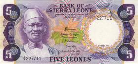 Sierra Leone P.07e 5 Leones 1984 (1)