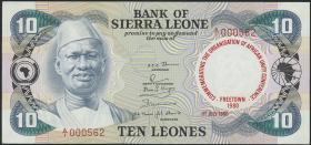 Sierra Leone P.13 10 Leones 1980 Gedenkausgabe (1)