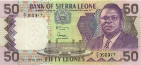 Sierra Leone P.17br 50 Leones 1989 Z/1 (1)