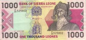 Sierra Leone P.20b 1000 Leones 1996 (1/1-)