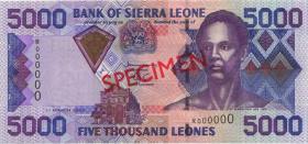 Sierra Leone P.27s 5000 Leones 2003 Specimen (1)