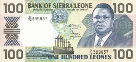 Sierra Leone P.18c 100 Leones 1990 (1)