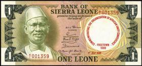 Sierra Leone P.10 1 Leone 1980 Gedenkausgabe (1)