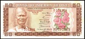 Sierra Leone P.09 50 Cents 1980 Gedenkausgabe (1)