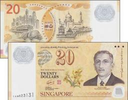 Singapur / Singapore P.53 20 Dollars 2007 Jubiläum (1)