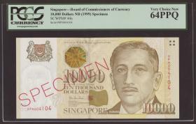 Singapur / Singapore P.44s 10000 Dollars (1999) (1)