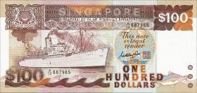 Singapur / Singapore P.23a 100 Dollars (1985) (1)