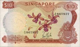 Singapur / Singapore P.03a 10 Dollars (1967) (1)