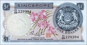 Singapur / Singapore P.01d 1 Dollar (1972) (1)