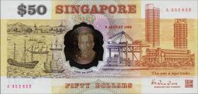 "Singapur / Singapore P.30 50 Dollars 1990 ""Unabhängigkeit"" Polymer (1)"