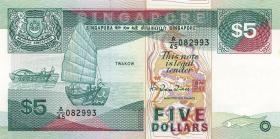 Singapur / Singapore P.19 5 Dollars (1989) (1)