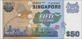Singapur / Singapore P.13b 50 Dollars (1976) (1)