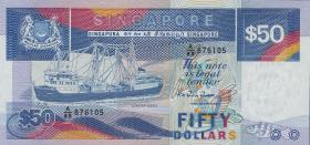 Singapur / Singapore P.22a 50 Dollars (1987) (1)