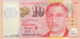 Singapur / Singapore P.48i 10 Dollars (2016) Polymer (1)