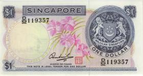 Singapur / Singapore P.01d 1 Dollar (1972) (1-)