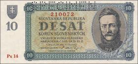 Slowakei / Slovakia P.06s 10 Korun 1943 Specimen (1)