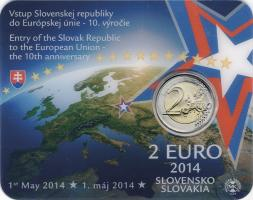 Slowakei 2 Euro 2014 10 Jahre EU-Beitritt Coincard