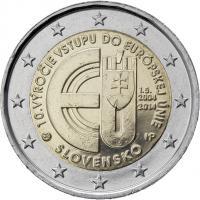 Slowakei 2 Euro 2014 10 Jahre EU-Beitritt