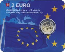 Slowakei 2 Euro 2015 30 Jahre EU-Flagge in Coincard