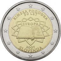 Slowenien 2 Euro 2007 Römische Verträge