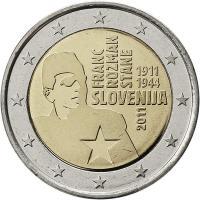 Slowenien 2 Euro 2011 Franc Rozman