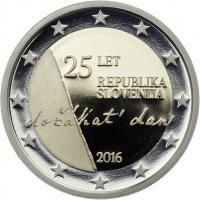 Slowenien 2 Euro 2016 25 Jahre Unabhängigkeit PP