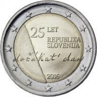 Slowenien 2 Euro 2016 25 Jahre Unabhängigkeit