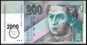 Slowakei / Slovakia P.37 200 Kronen (2000) Millenniumm (1)