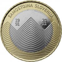 Slowenien 3 Euro 2011 20 J. Unabhängigkeit, Coincard