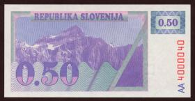 Slowenien / Slovenia P.01A 0,50 Tolar (1990) (1)