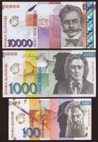 Slowenien / Slovenia P.25-27 100-10.000 Tolarjew 2001 10 Jahre Banka Slovenije (1)