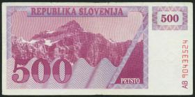 Slowenien / Slovenia P.08a 500 Tolarjew 1990 (4)