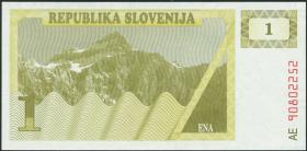 Slowenien / Slovenia P.01a 1 Tolar 1990 (1)