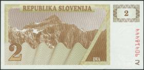 Slowenien / Slovenia P.02a 2 Tolarjew 1990 (1)