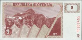 Slowenien / Slovenia P.03a 5 Tolarjew 1990 (1)