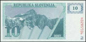 Slowenien / Slovenia P.04a 10 Tolarjew 1990 (1)
