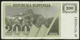 Slowenien / Slovenia P.07a 200 Tolarjew 1990 (4)