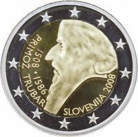 Slowenien 2 Euro 2008 Primoz Trubar PP