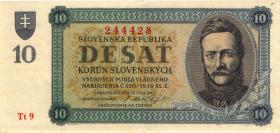 Slowakei / Slovakia P.06a 10 Korun 1943 (2)