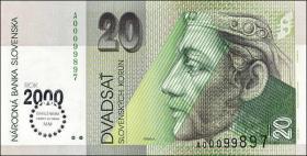Slowakei / Slovakia P.34 20 Kronen (2000) Millennium (1)