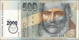 Slowakei / Slovakia P.38 500 Kronen (2000) Millennium (1)