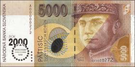 Slowakei / Slovakia P.40 5000 Kronen (2000) Millennium (1)