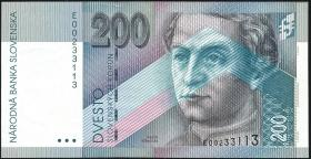 Slowakei / Slovakia P.26 200 Kronen 1995 (1)