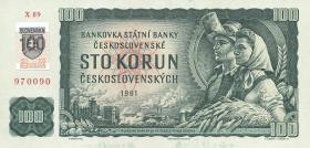 Slowakei / Slovakia P.17 100 Kronen (1993) mit Klebemarke (1)